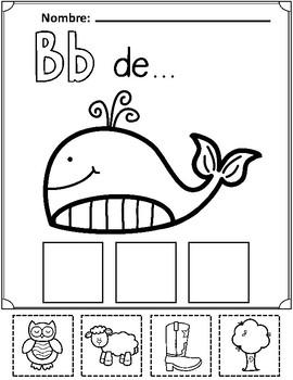 Spanish Alphabet Cut and Paste