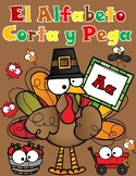 Spanish Alphabet Cut and Paste:  Thanksgiving