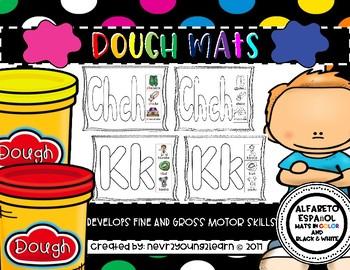 Spanish Alphabet: Dough Mats