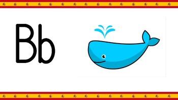 Spanish Alphabet El alfabeto flashcards posters Pre K Kindergarten Elementary