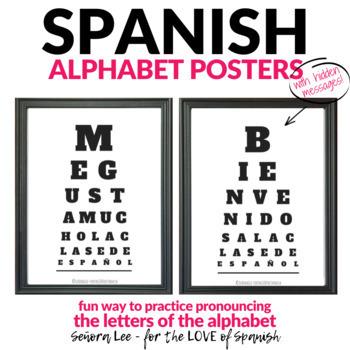 Spanish Alphabet - Eye Chart