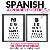 Spanish Alphabet Posters - Spanish Classrooom Decor - Eye Charts