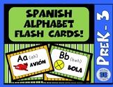 Spanish Alphabet Flash Cards!  PreK - 3rd Grade