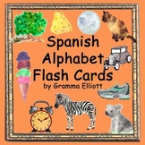 Spanish Alphabet Flash Cards - Color and BW