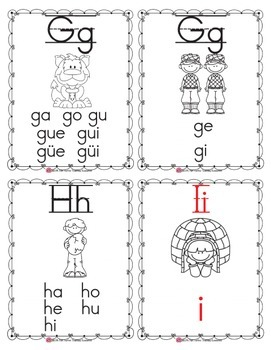 Spanish Alphabet Flashcards