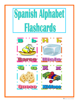 picture regarding Printable Spanish Flashcards titled Spanish Alphabet Flashcards