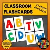Spanish Alphabet Flashcards, Punctuation, Alfabeto, Large Flashcards