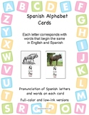 Spanish Alphabet Flashcards - Two Sets, with Pronunciation