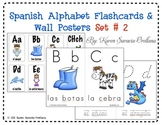 Spanish Alphabet Flashcards & Wall Posters (Bulletin Board Set) Set 2
