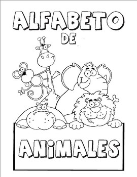 Image of: Children Abc Original32916871jpg Hand Play Tv Spanish Alphabet Flashcards With Animal Illustrations And Names Bw