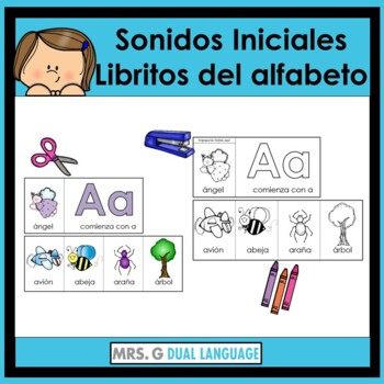 Alphabet Beginning Sounds Flip Books in Spanish  Libritos del alfabeto