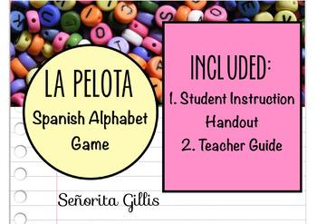 Spanish Alphabet Game-La Pelota