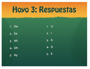 Spanish Alphabet Golf