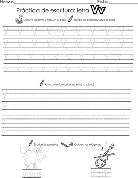 Spanish Alphabet Handwriting Activities for all 29 letters!! Homework/Centers