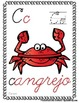 "Spanish Alphabet Handwriting Practice & Posters: ""C de Cangrejo"""