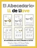 "Spanish Alphabet Handwriting Practice & Posters: ""Ll de llave"""