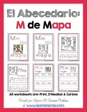 "Spanish Alphabet Handwriting Practice & Posters: ""M de Mapa"""