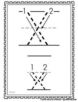 "Spanish Alphabet Handwriting Practice & Posters: ""X de Xilófono"""