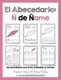 "Spanish Alphabet Handwriting Practice & Posters: ""Ñ de ñame"""