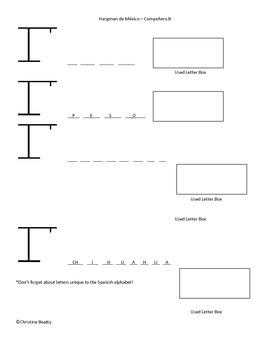 Spanish Alphabet Hangman-Spanish Letter Practice