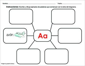 Spanish Alphabet Homework / Tarea del Alfabeto en Español