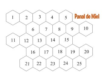 Spanish Alphabet Honeycomb Partner Game
