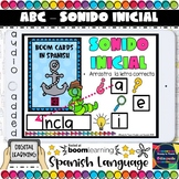 Spanish Alphabet - Initial Sound - Boom Cards (Distance Learning)