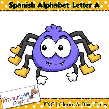 Spanish Alphabet Letter A Clip art