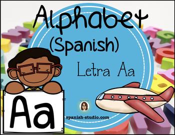 Spanish Alphabet. Letter Aa/ Letra Aa