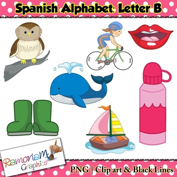 Spanish Alphabet Letter B Clip art