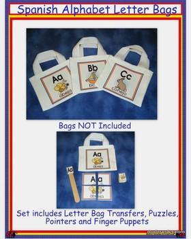 Spanish Alphabet Letter Bags