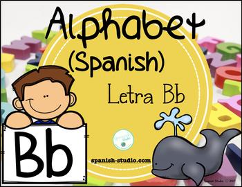 Spanish Alphabet. Letter Bb/ Letra Bb