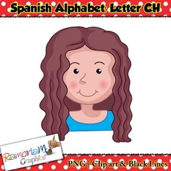Spanish Alphabet Letter CH Clip art