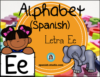 Spanish Alphabet. Letter Ee/ Letra Ee