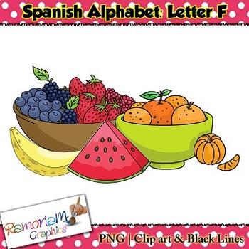 Spanish Alphabet Letter F Clip art