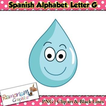 Spanish Alphabet Letter G Clip art