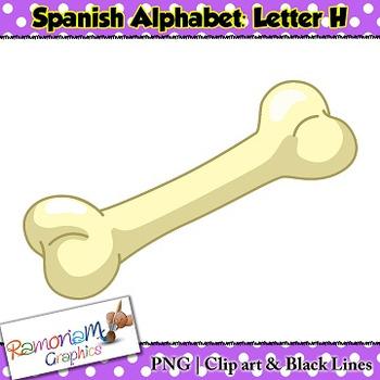 Spanish Alphabet Letter H Clip art