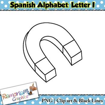 Spanish Alphabet Letter I Clip art