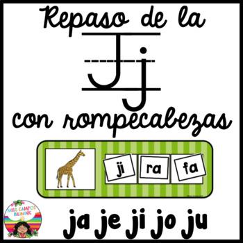 Letra J Rompecabezas ja, je, ji, jo, ju
