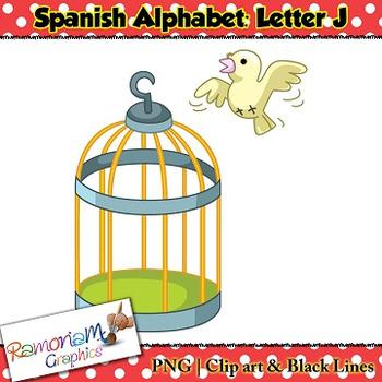 Spanish Alphabet Letter J Clip art