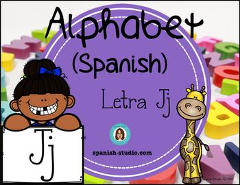 Spanish Alphabet. Letter Jj/ Letra Jj