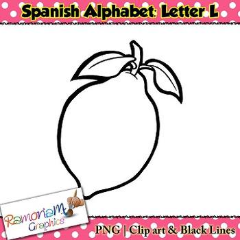 Spanish Alphabet Letter L Clip art