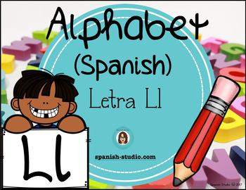 Spanish Alphabet. Letter Ll/ Letra Ll