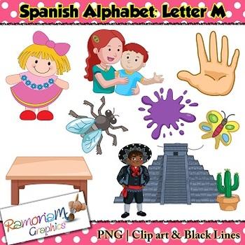 Spanish Alphabet Letter M Clip art