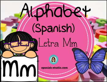 Spanish Alphabet. Letter Mn/ Letra Mn