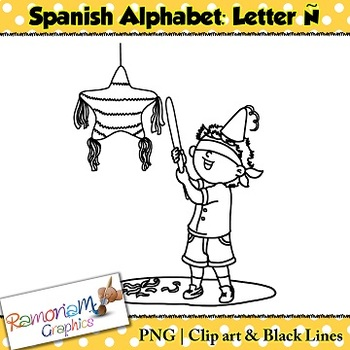 Spanish Alphabet Letter Ñ Clip art