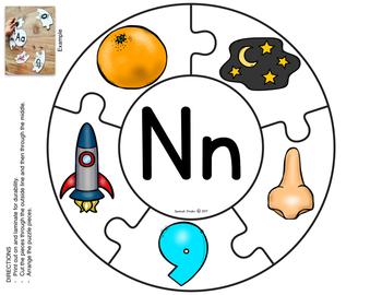 Spanish Alphabet. Letter Nn/ Letra Nn