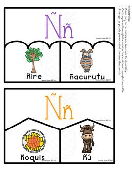 Spanish Alphabet. Letter Ññ/ Letra Ññ