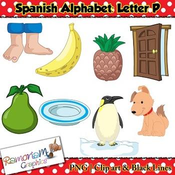Spanish Alphabet Letter P Clip art