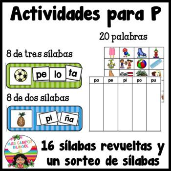 Spanish Alphabet Letter P - Rompecabezas (pa, pe, pi, po, pu Review Puzzles)